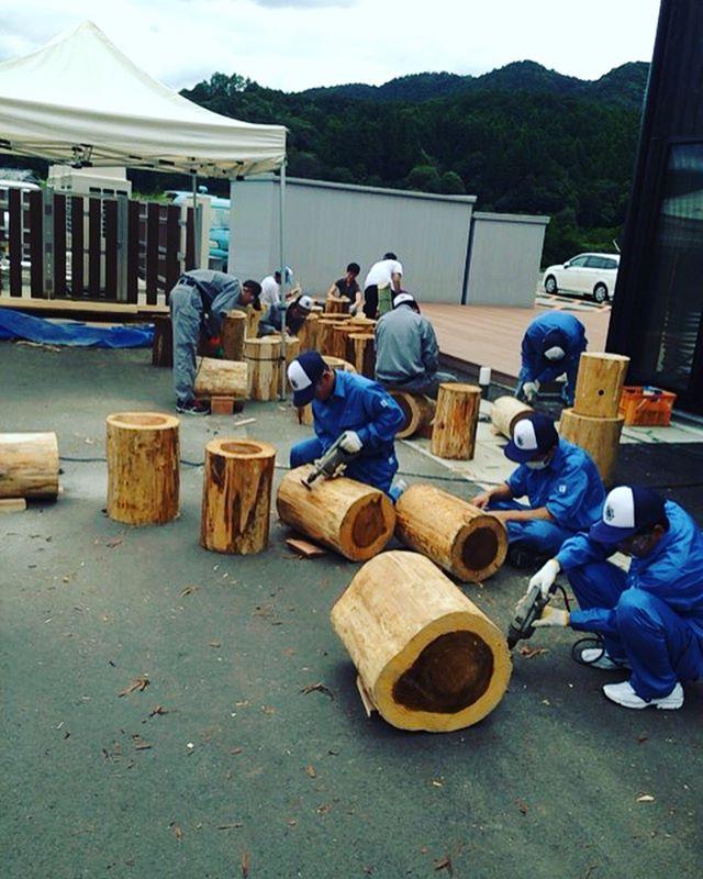 ボランティアスクール!地元相生祭りのベンチ作り