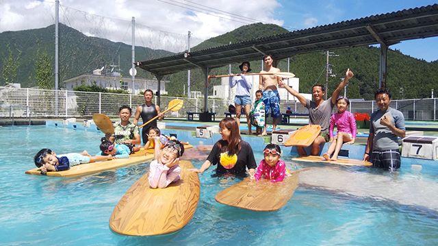 夏休み!KIZS木頭杉サップ&サーフボード体験会@鷲敷プール