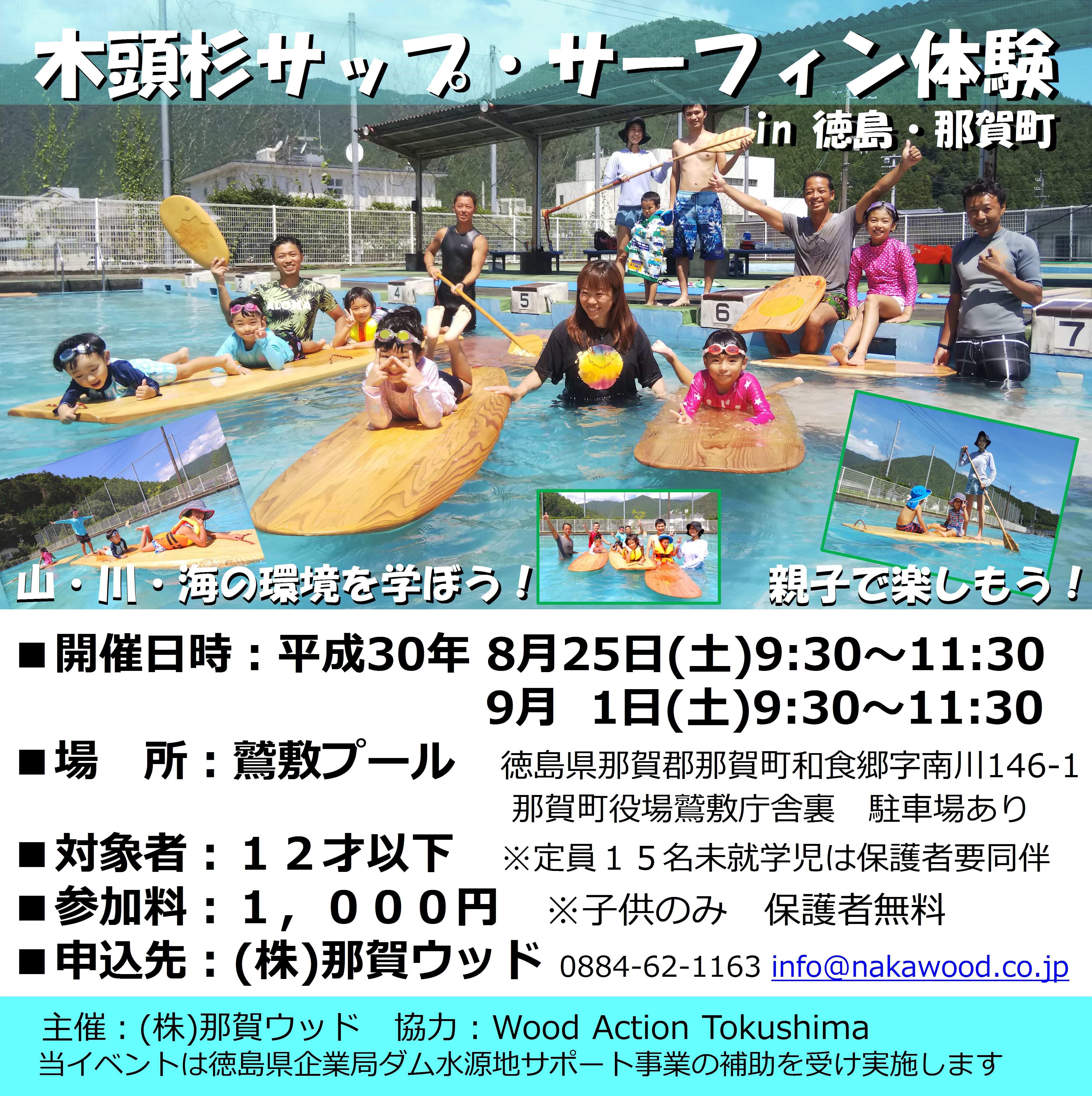 木頭杉サップ・サーフィン体験 in 徳島・那賀町