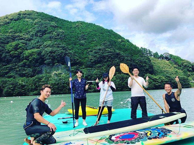 KUKUサップ体験会那賀町川口ダム湖今日は夏日!サップ日和でした~