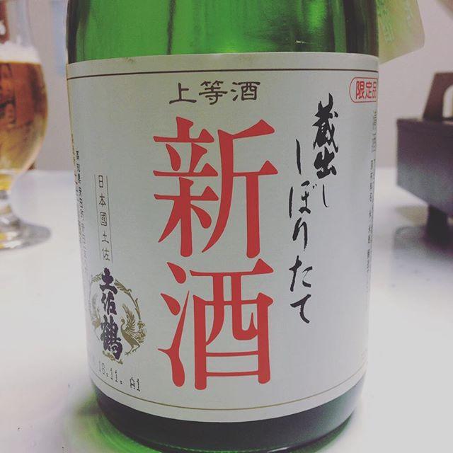 ただいま到着!今年初めの樽からの〜新酒蔵人@hidephoto.jpさん今到着!鍋を囲んで頂きます(^^) #土佐鶴#新酒#初#1番樽#A1