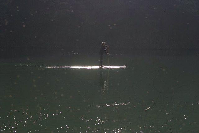 SUP cruisingあじさい湖でのサップ体験