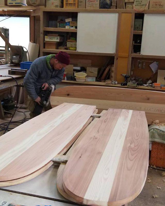 KUKU-Atype木頭杉ブランクス1900×480×25#ウッドボードkuku #woodboardkuku #alaiasurfboards #木頭杉#アライア#サーフィン#サーフボード#インテリア#ディスプレイ@nakawood