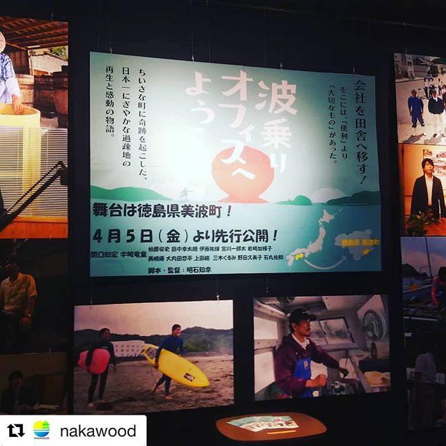 #Repost @nakawood with @get_repost・・・波乗りオフィスへようこそ昨日から徳島のイオンシネマで上映はじまりました!本日は舞台挨拶もあるそうです!昨日さっそく観てきました。四国の右下で生まれ育ち、外に出てもんてきた立場からもいろいろ考えさせられました。山も川も海もある徳島ってやっぱりええなー大切にしたい、とか、地域でカッコいい大人になりたいなと改めて感じています。県や町の方々もエキストラでたくさん出演されていたので面白かったです️サーフィンシーンはWoodBoard KUKU高森が出演、ウッドボードもチラチラ見えて嬉しかったです。そちらも是非ご注目ください!(冒頭の役場のシーン妹が受付役で出てて笑いました。そこも注目ポイントです) 東京では4/19有楽町スバル座です皆さま是非劇場へ!#波乗りオフィスへようこそ #四国の右下 #徳島 #美波町 #woodboard #kuku #nakawood #林業 #木頭杉
