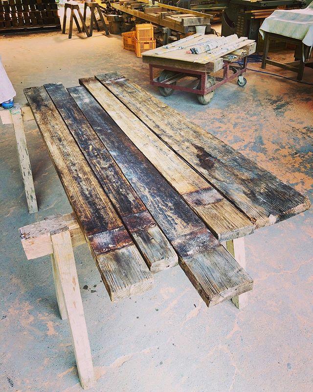 木桶をウッドサーフボードに再生! 木桶再生プロジェクト1