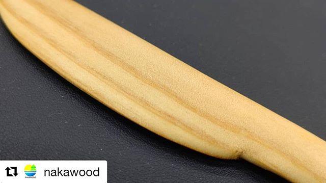 木頭杉のバターナイフ♪