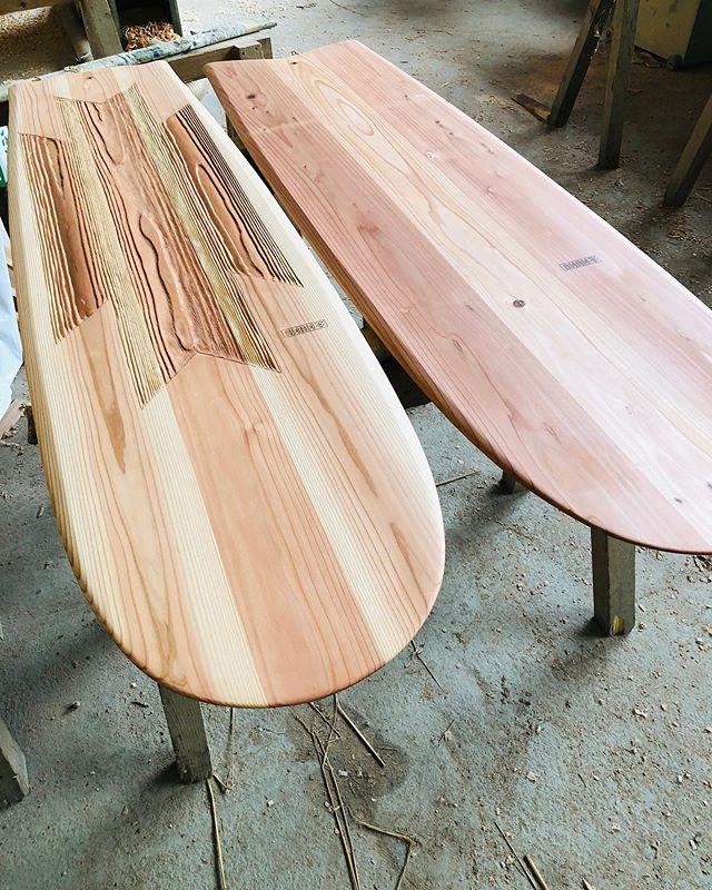 KUKUアライア 2019シリーズさらにもう一本製作中です。進化したKUKUアライアを是非体感してください(^^) #woodboardkuku#ウッドボードkuku #alaiasurfing #alaiasurfboard #木頭杉 #woodsurfboard #surf #sup@nakawood