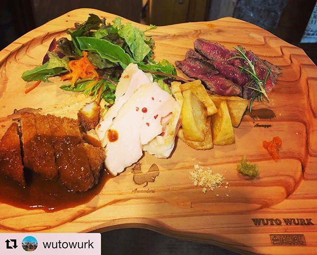 #Repost @wutowurk with @get_repost・・・____🌞・・登場から人気の三種のお肉プレート♪@nakawood さんとのコラボで器まで徳島産!?徳島尽くしとなりましたお肉を食べ比べたあとは、器をよーく見てくださいね^^ ある形をしています・・hint2枚目小さなプレートはパズルになった遊べるプレート♪この4つの形、よく見るよ✧・・緩やかに形どったお肉のプレートはオシャレな上に軽いので私達の腕にも優しい*・゚ お気に入りです︎