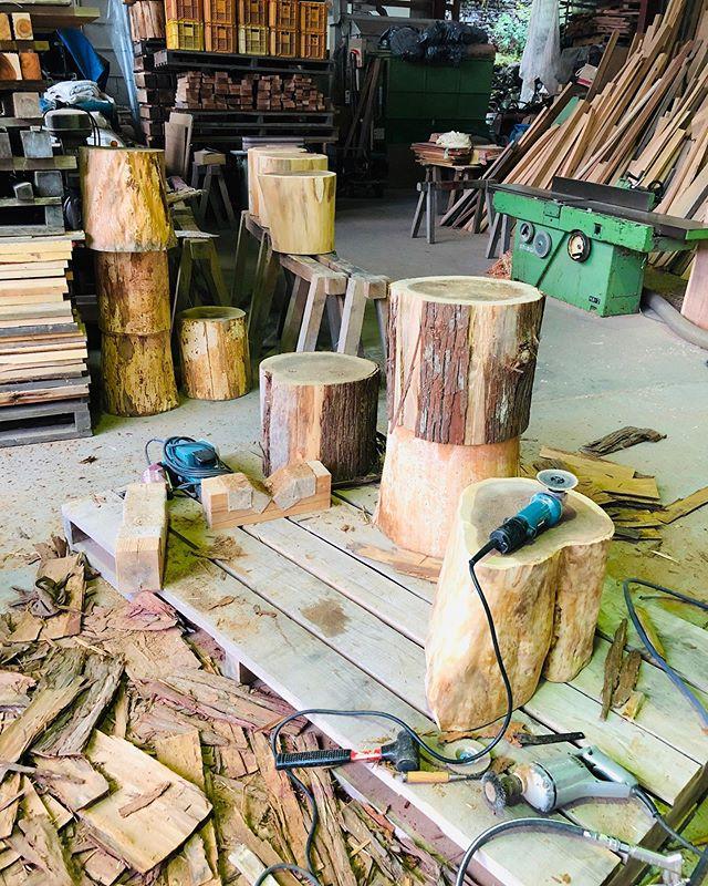 林業の町ならではの商品   タンコロ椅子