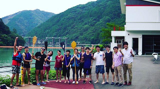 KUKUサップ体験東京の大学生たちが那賀町に来てくれました!#woodboardkuku#ウッドボードkuku #sup#あじさい湖@aiai_land_tokushima @nakawood