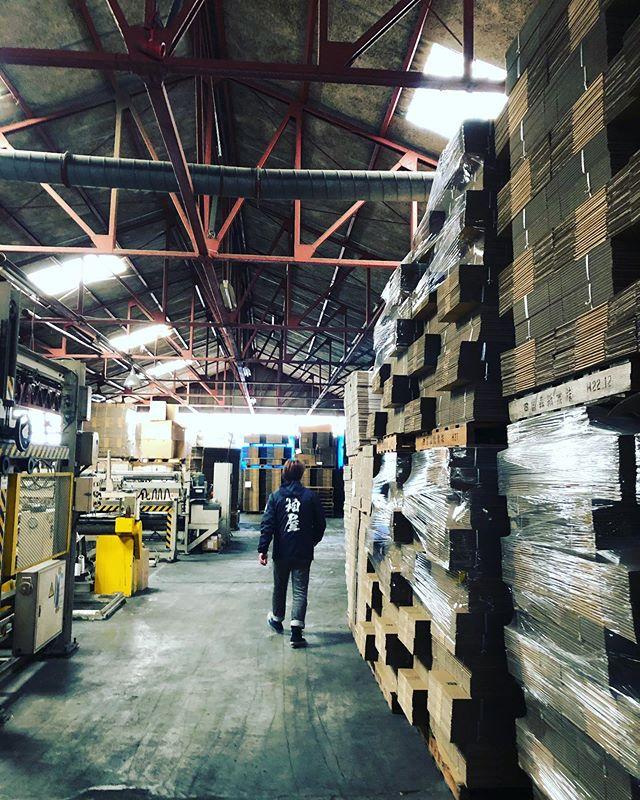 KUKUの梱包箱をいつもご用意して頂いてる上村紙器さんにお邪魔しました!73年の老舗だけあって工場もかなり良い雰囲気です。段ボール箱での新しい取り組みを企画されてるので、今後の活動が楽しみですよー。#woodboardkuku#箱#梱包#徳島#box@box_uemura @nakawood