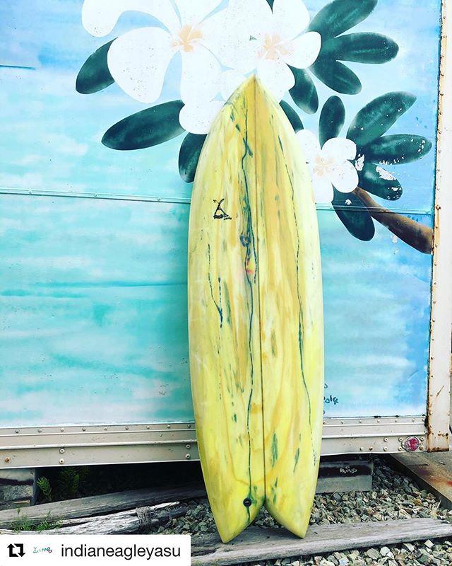 木頭杉ストリンガー搭載のサーフボード!