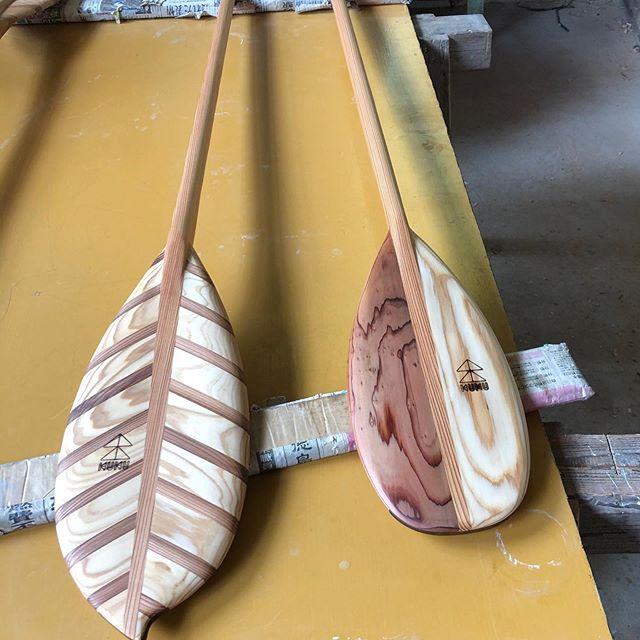 KUKU paddle2020モデル完成。ネック部、ブレードのロッカーをさらに進化したモデルに!#woodboardkuku#木頭杉#sup#wood#paddle#handmade #無垢材#天然木#那賀町#ふるさと納税返礼品 @woodboardkuku @nakawood @indianeagleyasu