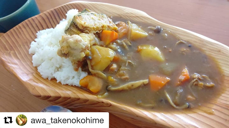 #Repost @awa_takenokohime with @get_repost・・・暑いからこそ夏野菜たっぷりカレー#カレー #curry #阿波たけのこ農園 #woodboardkuku
