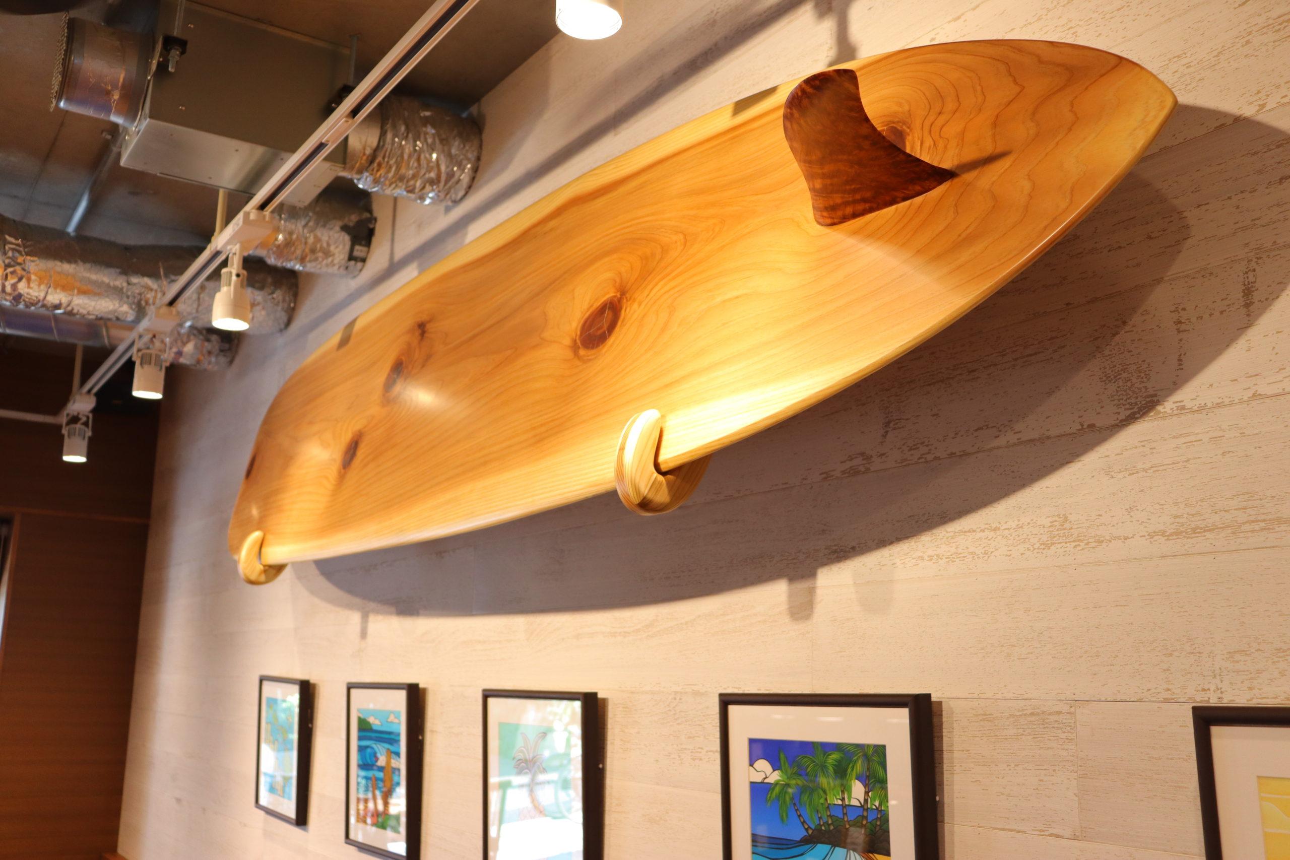 インテリア用の一枚板Wood-Surfboard